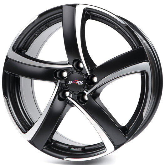 ALUTEC Shark 7x16 5x112 ET48 70.1 Racing Black Front Polished