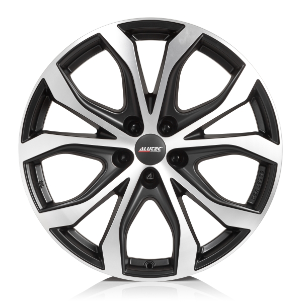 ALUTEC W10X 8x18 5x120 ET40 72.6 Racing Black Front Polished