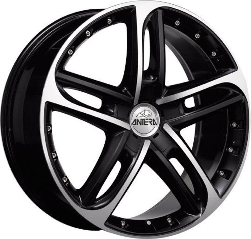 ANTERA 501 8.5x19 5x114.3 ET32 75 Racing Black Front Polished