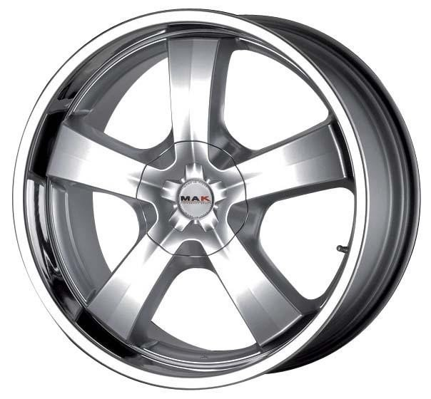 MAK G Five 9x20 5x120 ET20 74.1 Hyper Silver Steel Lip