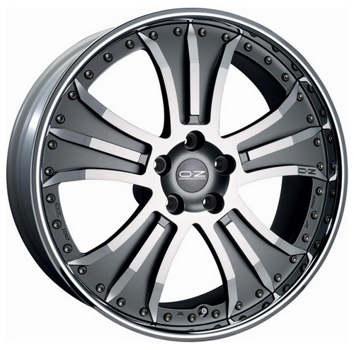 OZ GRANTURISMO 10.5x20 5x114.3 ET27 67.1 Matt Graphite Silver Diamond Cut